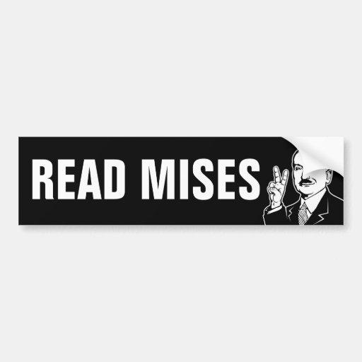 Read Mises Bumper Stickers