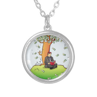 Read-more-books-and-earn-money.jpg Round Pendant Necklace