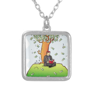 Read-more-books-and-earn-money.jpg Square Pendant Necklace