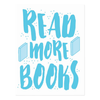 read more books in blue postcard