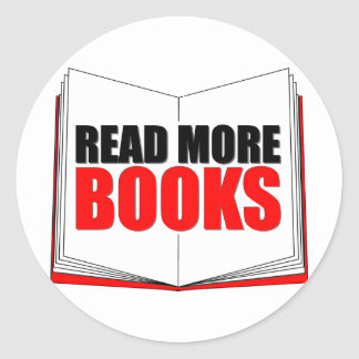 Read More Books Round Sticker
