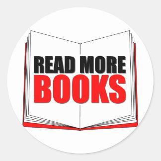 Read More Books Round Sticker