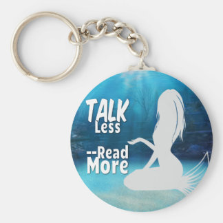 Read More Mermaid Basic Round Button Key Ring