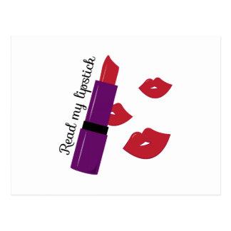 Read My Lipstick Postcard