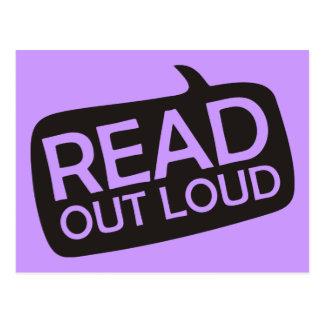 Read Out Loud Postcard