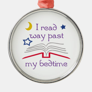 Read Past Bedtime Silver-Colored Round Decoration