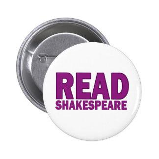 Read Shakespeare 6 Cm Round Badge