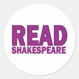 Read Shakespeare Round Sticker