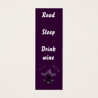 Read Sleep Drink wine~bookmarks Mini Business Card