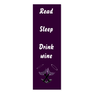 Read Sleep Drink wine~bookmarks Pack Of Skinny Business Cards