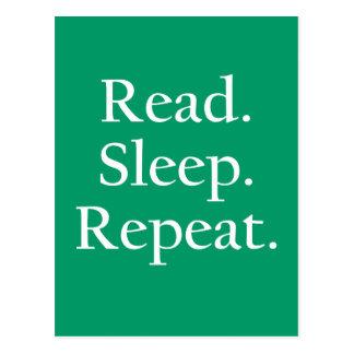 Read Sleep Repeat Post Card