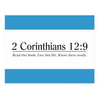 Read the Bible 2 Corinthians 12:9 Postcard