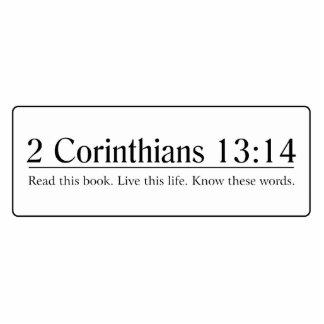 Read the Bible 2 Corinthians 13:14 Photo Sculptures