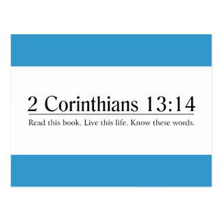 Read the Bible 2 Corinthians 13:14 Postcard