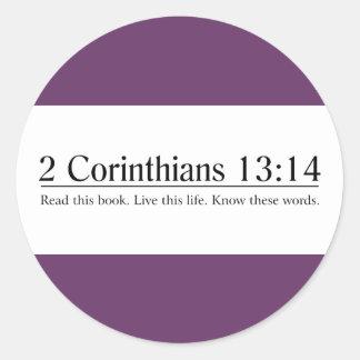 Read the Bible 2 Corinthians 13:14 Stickers