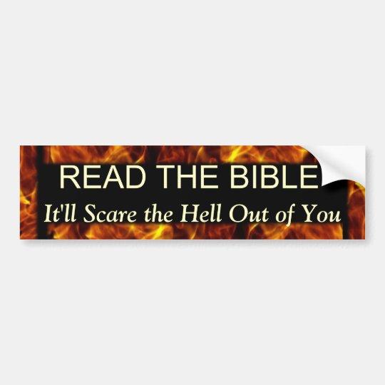 Read the Bible Funny Religious Humour Bumper Sticker