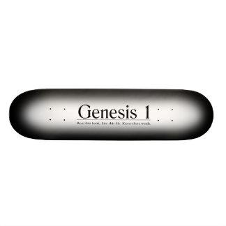 Read the Bible Genesis 1 Skateboard