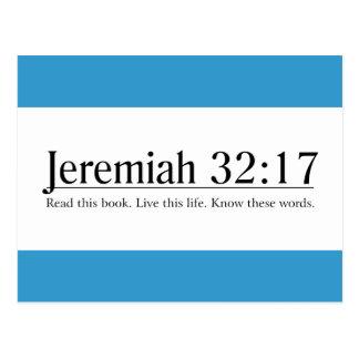 Read the Bible Jeremiah 32:17 Postcard
