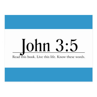 Read the Bible John 3:5 Post Cards
