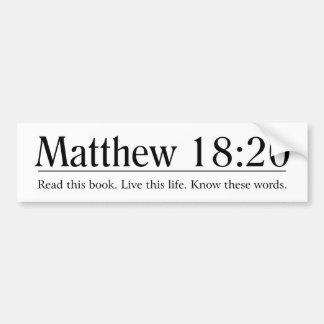 Read the Bible Matthew 18:20 Bumper Sticker