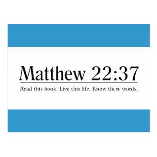 Read the Bible Matthew 22:37 Postcard