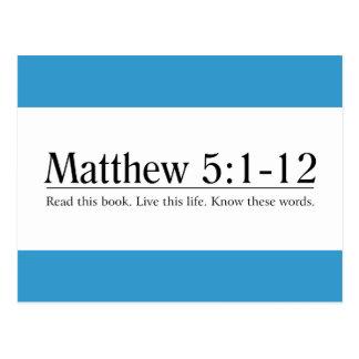 Read the Bible Matthew 5 1-12 Post Card