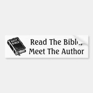 Read The Bible; Meet The Author Bumper Sticker
