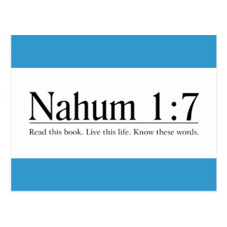 Read the Bible Nahum 1:7 Postcards