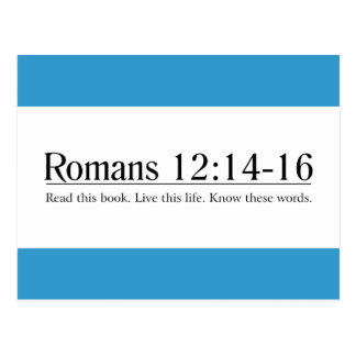 Read the Bible Romans 12:14-16 Postcard
