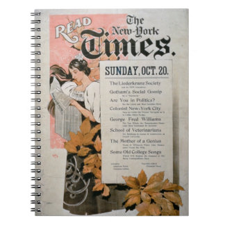 'Read The New York Times' (colour litho) Notebooks