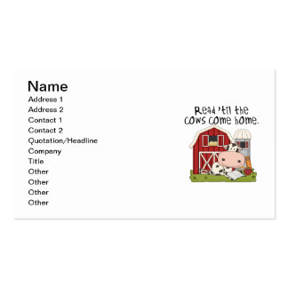 Read 'til The Cows Come Home Pack Of Standard Business Cards