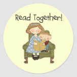Read Together Mum and Boy Tshirts and Gifts Stickers