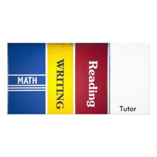Read write math Tutor Custom Photo Card