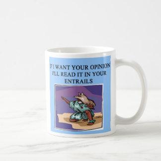 read your entrails new age joke, read your entr... basic white mug