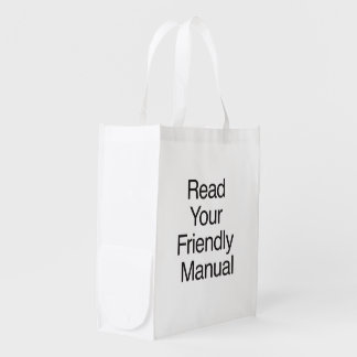 Read Your Friendly Manual Grocery Bag