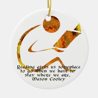 Reader - Golden Light Ornament