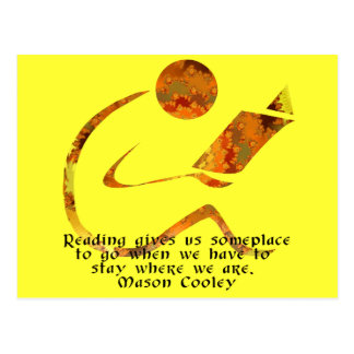 Reader Golden Quote Postcard