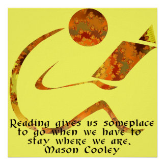Reader Golden Quote Print