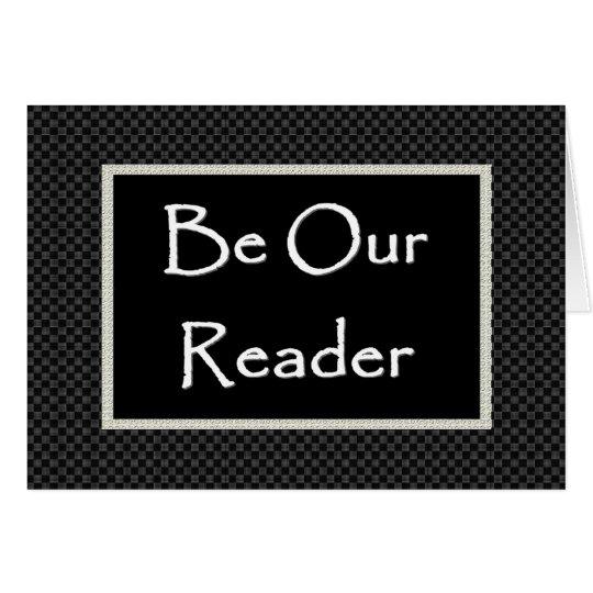 READER Invitation  with Checked Border