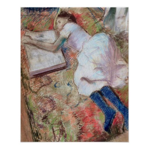 Reader Lying Down, c.1889 (pastel on paper) Poster