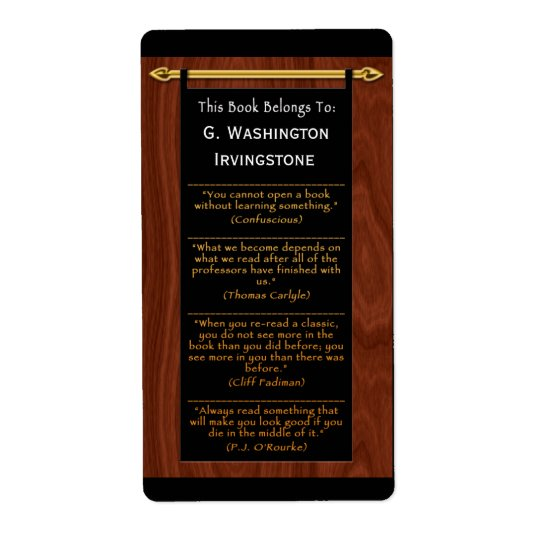 Reader's Quotes (Personalised Bookplate)