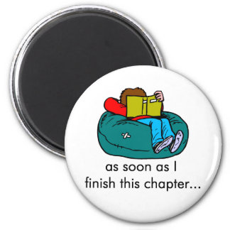 Reader T-shirts and Gifts. 6 Cm Round Magnet
