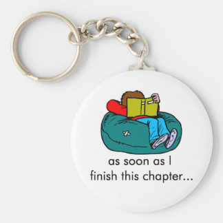 Reader T-shirts and Gifts. Basic Round Button Key Ring
