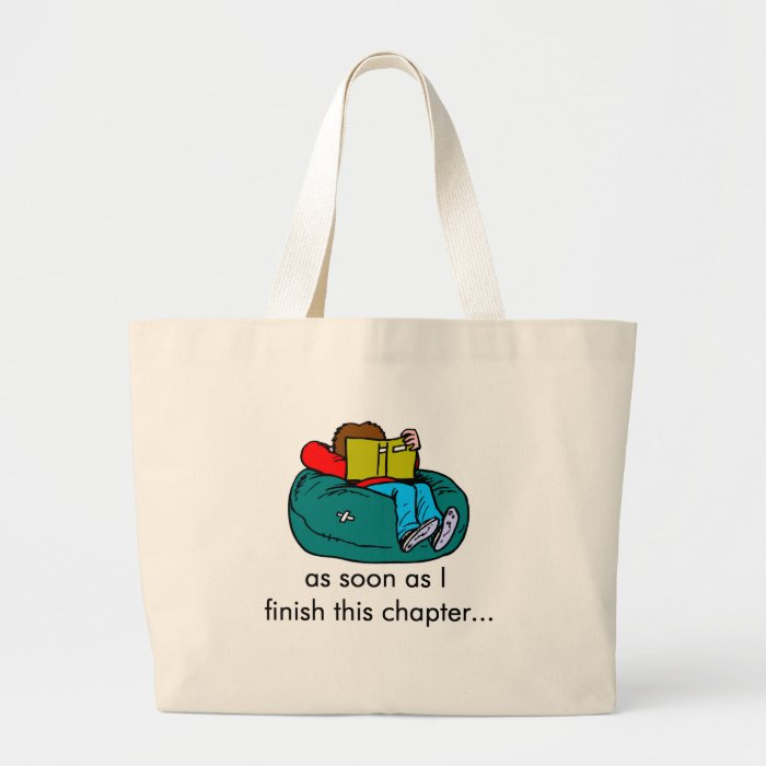Reader T-shirts and Gifts. Large Tote Bag