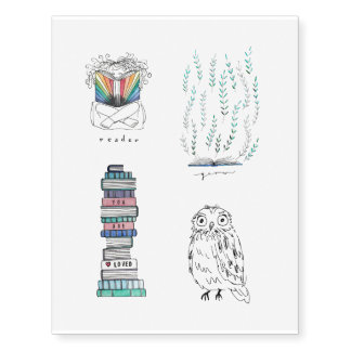 Readerly Temporary Tattoos