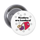 Readers Are Leaders Pinback Button