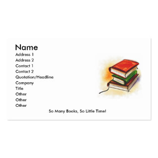 Reader's Card Business Card Templates