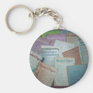 Readers Digest past Basic Round Button Key Ring