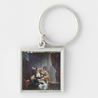 Readers Silver-Colored Square Key Ring