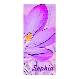 Reader's Lament Poem with a Purple Crocus Bookmark Personalized Rack Card